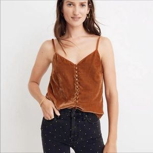 Madewell | Button Down Velvet Camisole